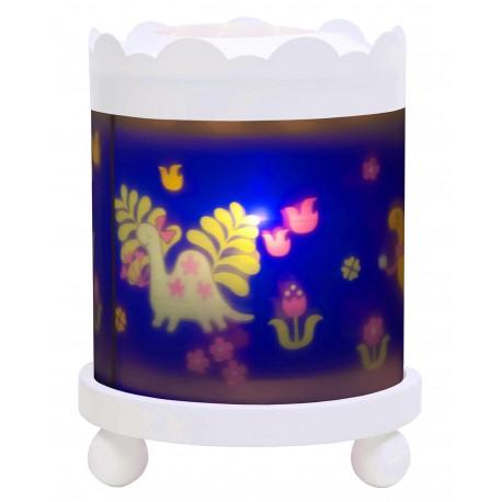Manège Lanterne Magique Dinosaures - Blanc 12V