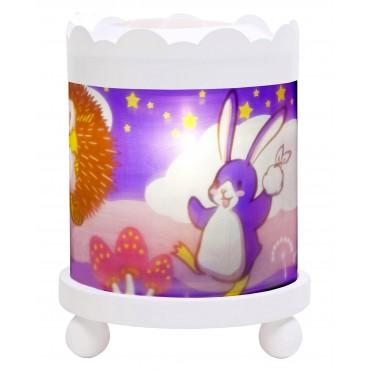 Manège Lanterne Magique Lapingouin© - Blanc 12V